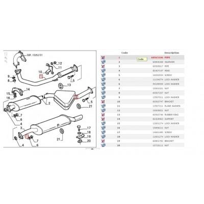 COLLETTORE TUBO SCARICO ALFA ROMEO 164 2.0 V6 TURBO 60563106-0