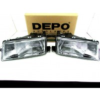COPPIA FARO PROIETTORE ANT. OPEL VECTRA '90 HEADLAMP FRONT SCHEINWERFER PROYECTO