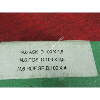 SERIE FASCE ELASTICHE SEGMENTI IVECO 616 N3 - 50 NC - 55 NC - 65 PC - 616 N3/4-2